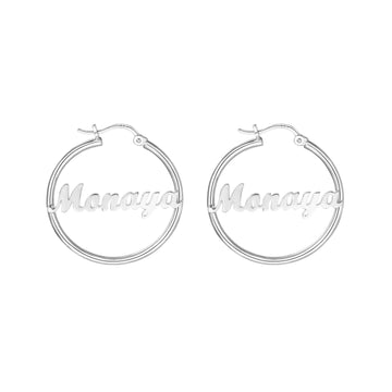 Personalized Name Custom Hoop Earrings