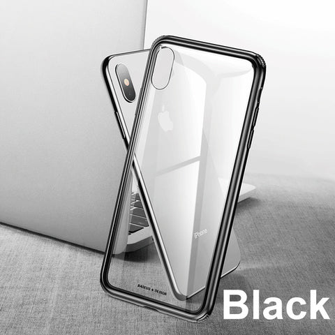 Baseus Luxury Glass Case For iPhone XS, XSMax & XR - Divinegears