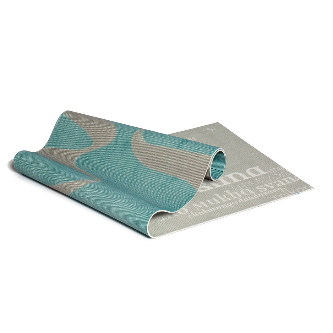 YOGA MAT GANGES GREY / ASANAS WHITEGREY