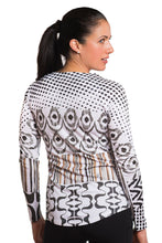 Load image into Gallery viewer, UV ACTIVE SHIRT IKAT BLACKBROWN