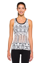Load image into Gallery viewer, RACERBACK TANK IKAT BLACKBROWN