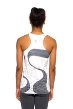 Load image into Gallery viewer, RACERBACK TANK GANGES BLACKWHITE