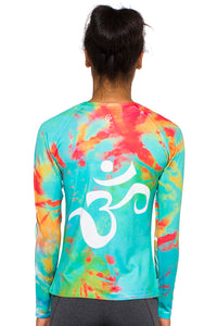 UV ACTIVE SHIRT OM TIEDYE AQUAORANGE