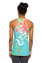 Load image into Gallery viewer, RACERBACK TANK OM TIEDYE AQUAORANGE