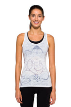 Load image into Gallery viewer, RACERBACK TANK GANESH GREYWHITE