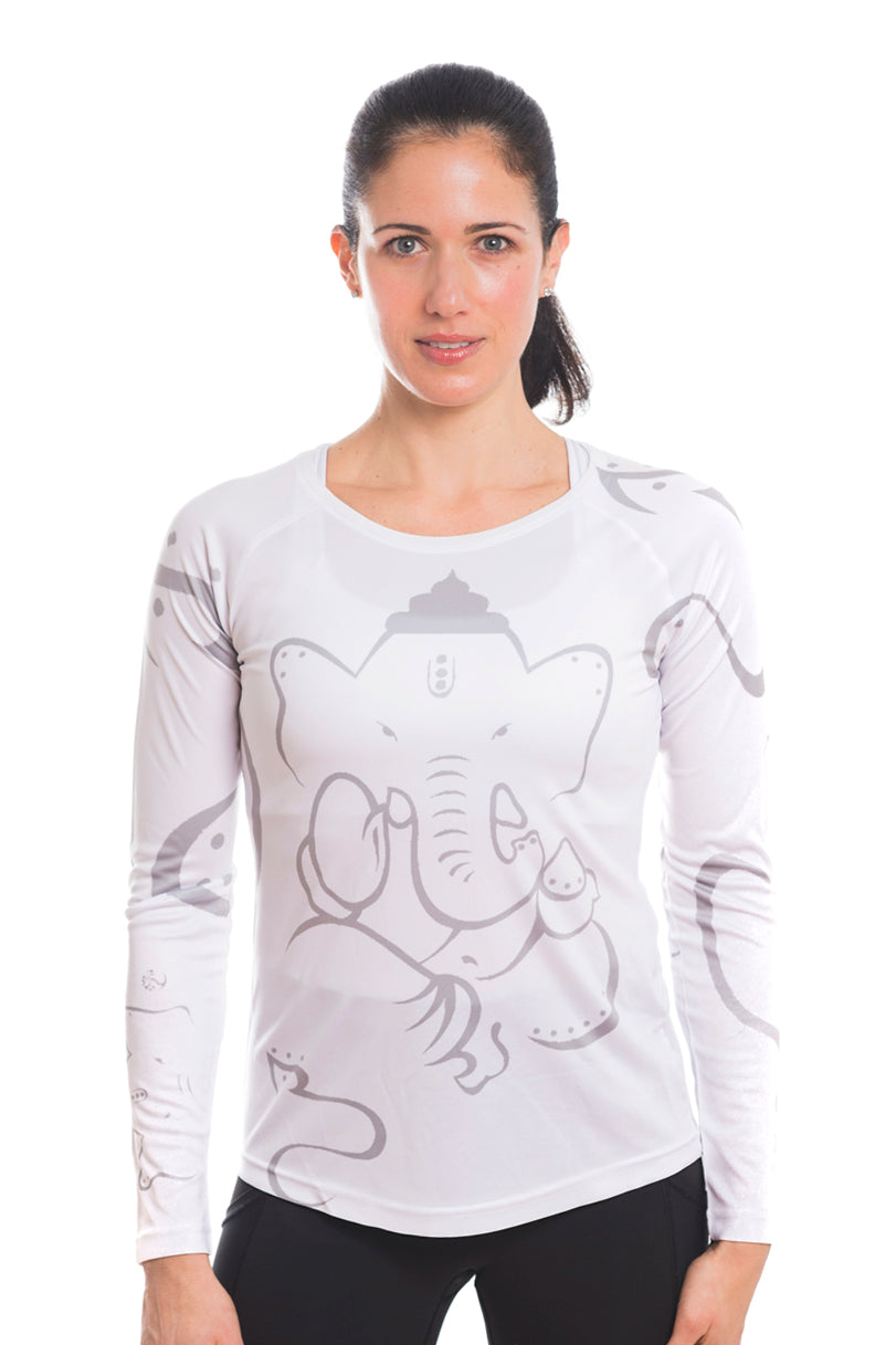 UV ACTIVE SHIRT GANESH GREYWHITE