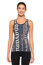 Load image into Gallery viewer, RACERBACK TANK ASANAS WHITEBLACK