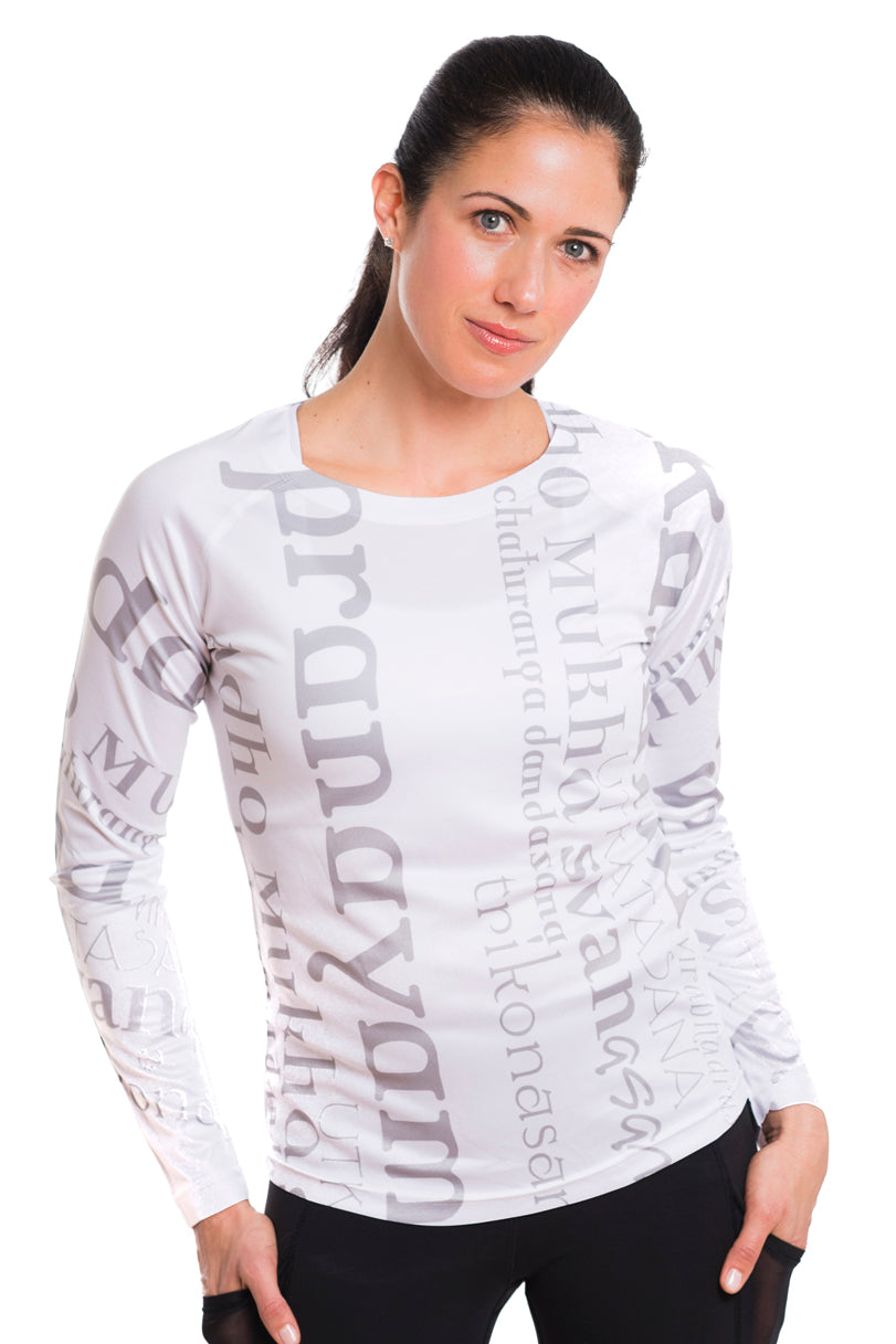 UV ACTIVE SHIRT ASANAS GREYWHITE