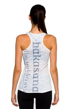 Load image into Gallery viewer, RACERBACK TANK ASANAS GREYWHITE