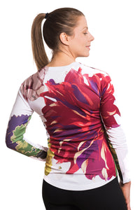 UV ACTIVE SHIRT FLEUR RED
