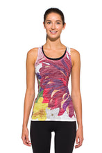Load image into Gallery viewer, RACERBACK TANK FLEUR RED