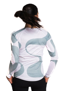 UV ACTIVE SHIRT GANGES BLUEWHITE