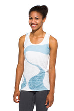 Load image into Gallery viewer, RACERBACK TANK GANGES BLUEWHITE