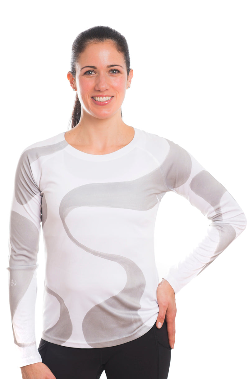 UV ACTIVE SHIRT GANGES GREYWHITE