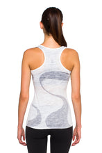 Load image into Gallery viewer, RACERBACK TANK GANGES GREYWHITE