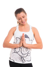Load image into Gallery viewer, RACERBACK TANK GANESH BLACKWHITE