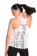 Load image into Gallery viewer, RACERBACK TANK ASANAS BLACKWHITE