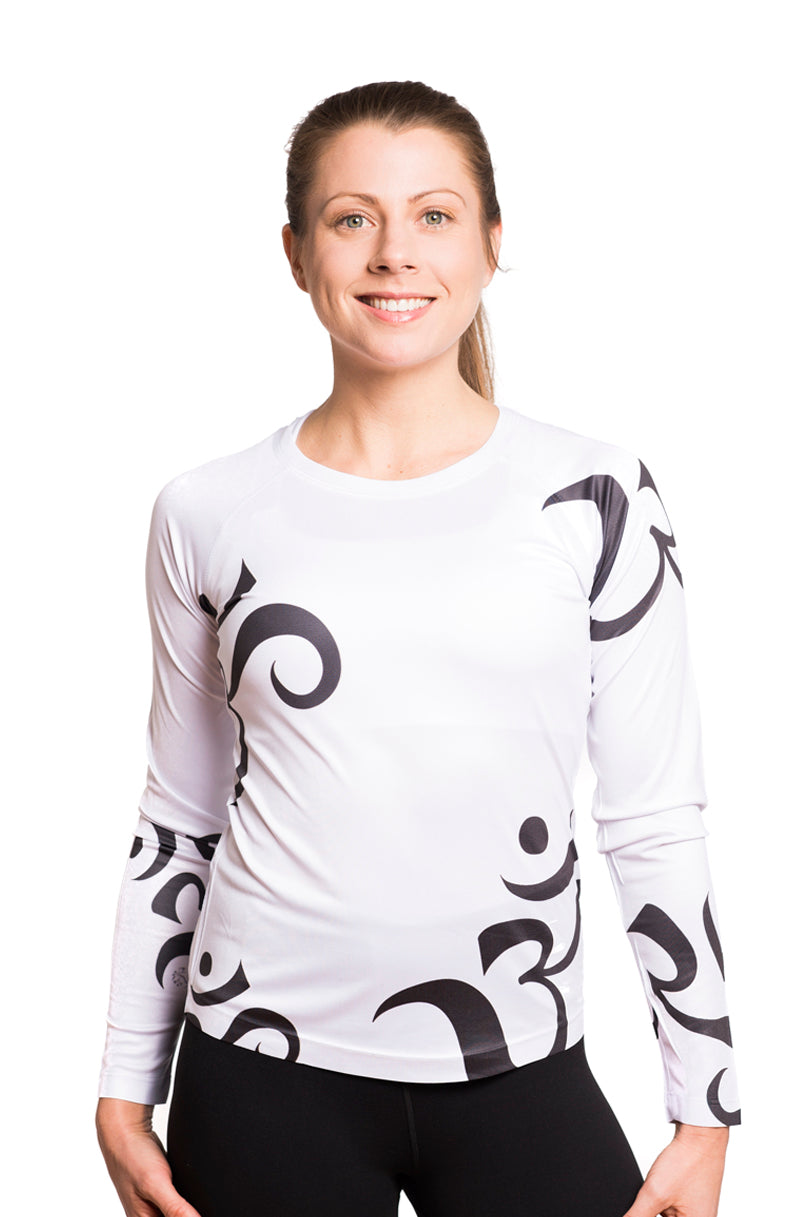 UV ACTIVE SHIRT OM BLACKWHITE