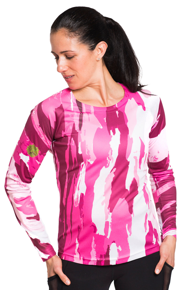 UV ACTIVE SHIRT TREEBARD PINK