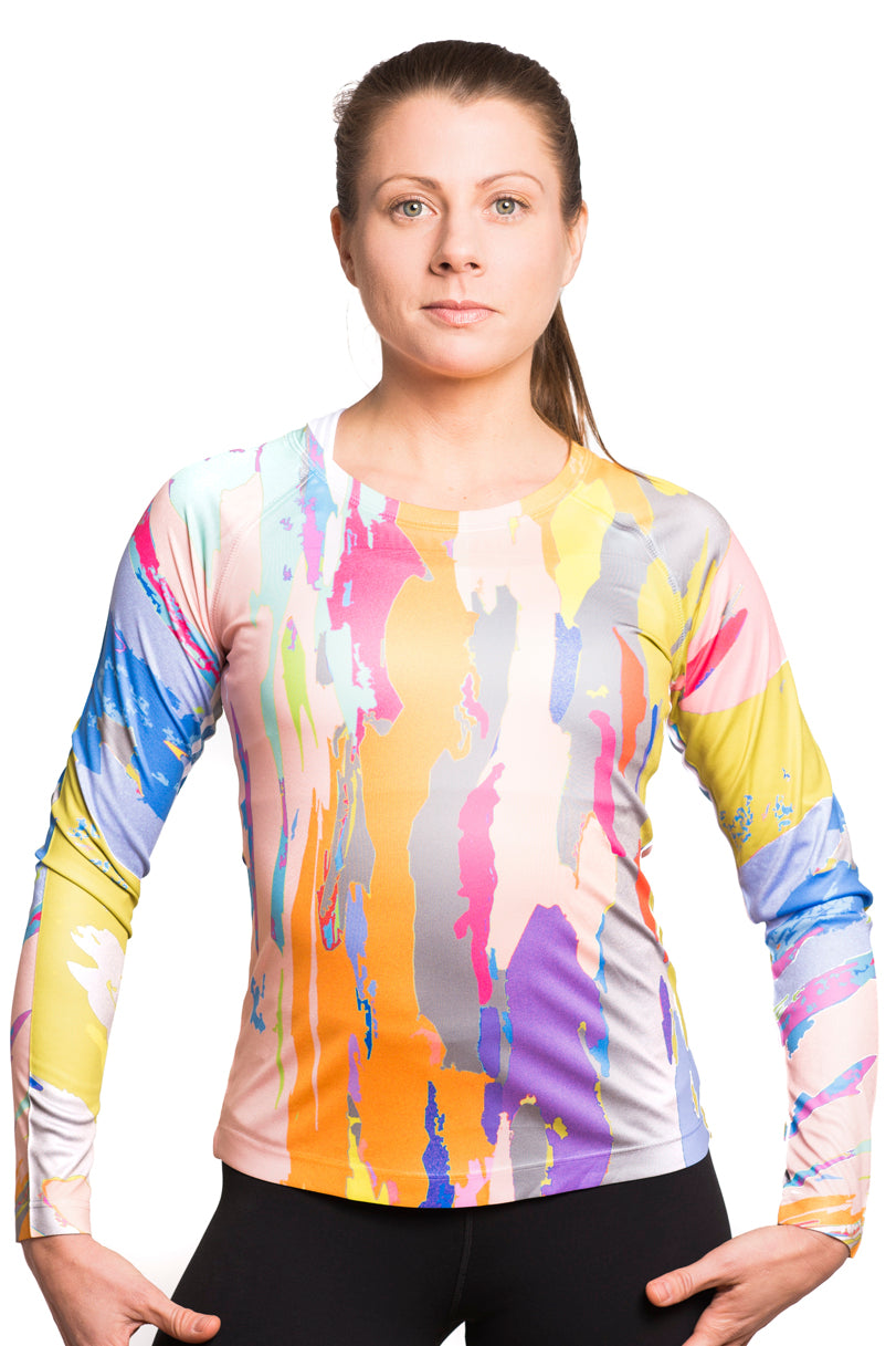 UV ACTIVE SHIRT TREEBARD ELECTRICPASTEL