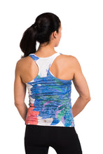 Load image into Gallery viewer, RACERBACK TANK FLEUR BLUE