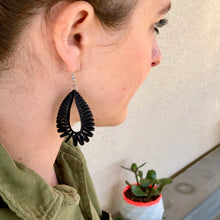 Load image into Gallery viewer, Black Rollie Pollie Earrings