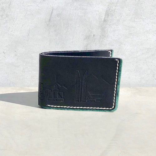 Navy Bifold with Phoenix Skyline Print