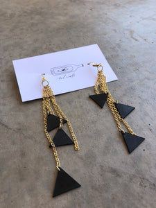 Triangle Cascade Earrings