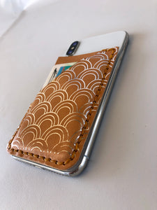 Metallic Phone Wallet Fish Scales