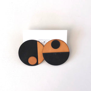 Mod Dot Leather Earrings