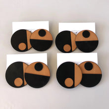 Load image into Gallery viewer, Mod Dot Leather Earrings