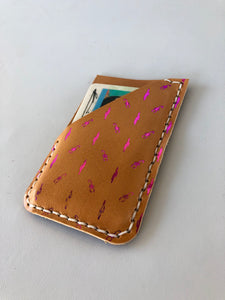Metallic Foil Phone Wallet Scorpion and Cactus