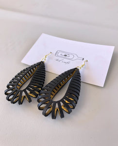 Black Rollie Pollie Earrings