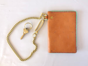 Polished Brass Wallet Chain