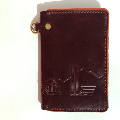 Burgundy Phoenix Skyline Traveler Wallet