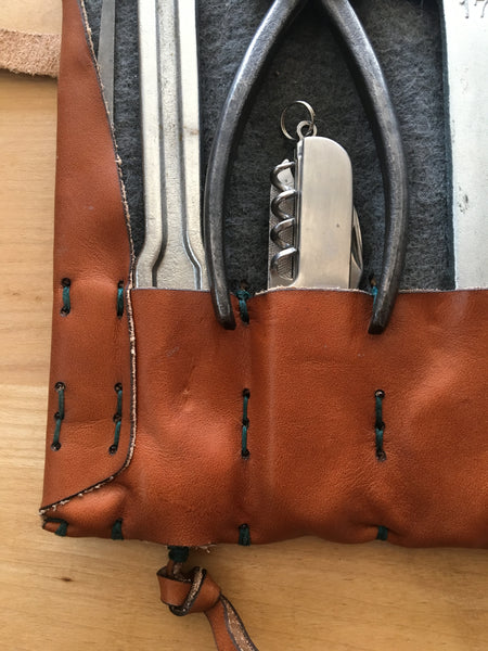 Hand-Stitched Leather Tool Roll