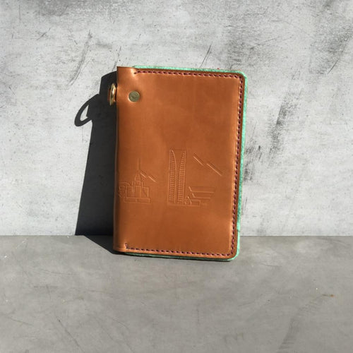 Tan Phoenix Skyline Traveler Wallet