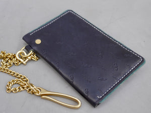 Navy Blue Scorpion and Cactus Traveler Wallet