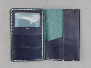 Navy Phoenix Skyline Traveler Wallet