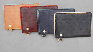 Burgundy Scorpion and Cactus Traveler Wallet