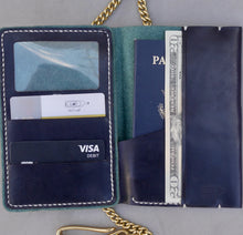 Load image into Gallery viewer, Navy Phoenix Skyline Traveler Wallet