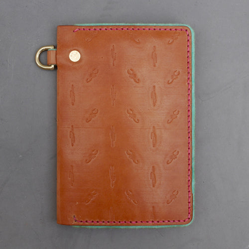 Tan Scorpion and Cactus Traveler Wallet