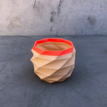 Load image into Gallery viewer, Small Geometric Succulent Planter Coral and Nude