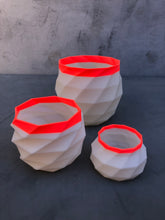 Load image into Gallery viewer, Medium Succulent Planter in Coral and Ivory