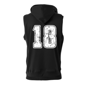 Classic Jersey Style Sleeveless Hoodie