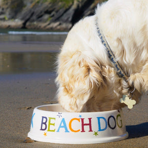 SeaKisses Beach Dog Bowl