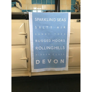 Devon Tea Towel - Coastal Kitchen Design-SeaKisses