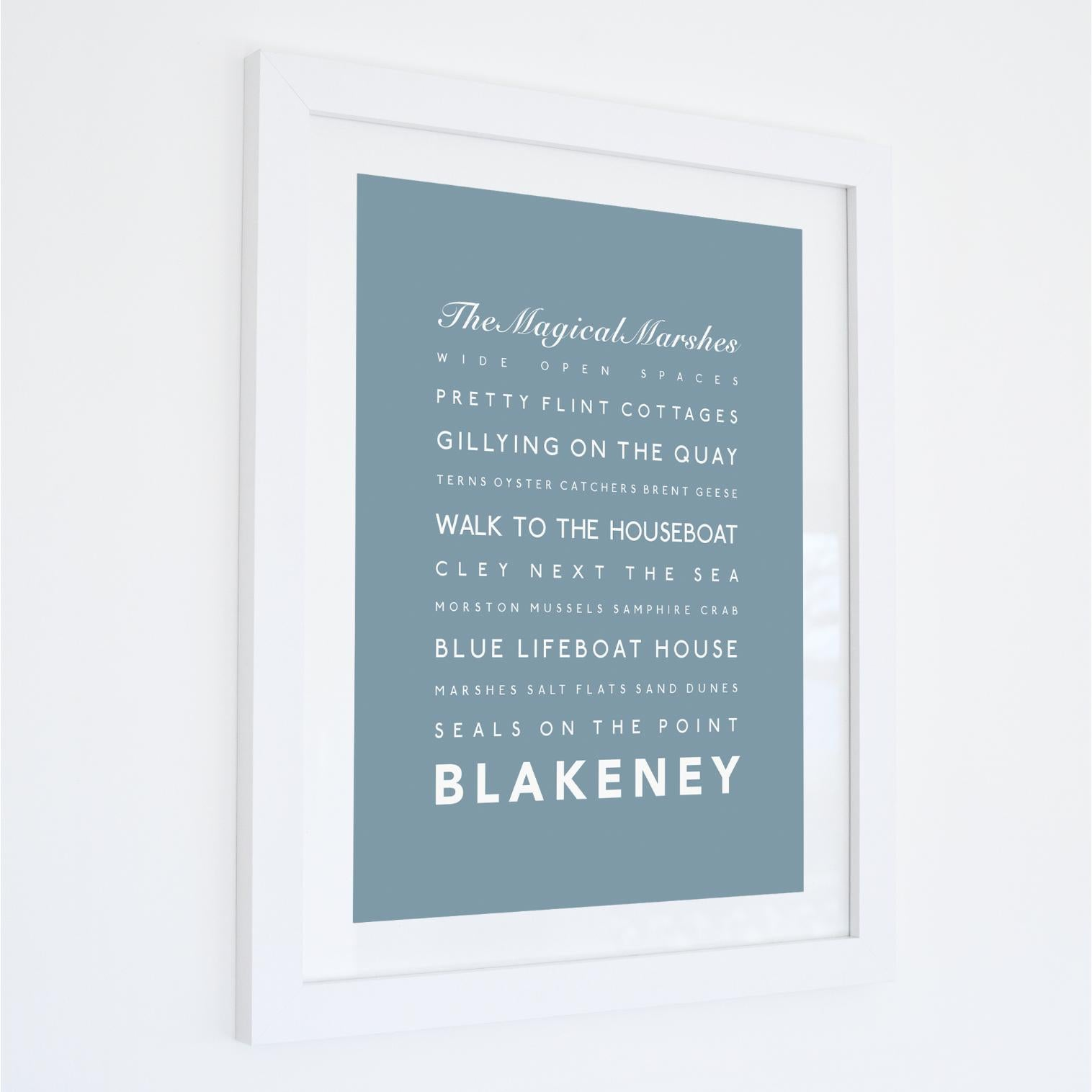Blakeney Typographic Travel Print- Coastal Wall Art /Poster-SeaKisses