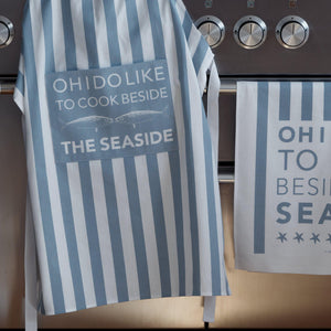 Cook Beside the Sea Apron - Coastal Kitchen Design-SeaKisses