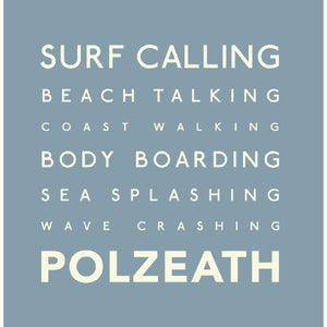 Polzeath - Greeting Card-SeaKisses
